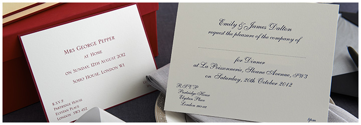 Create your bespoke invitations online