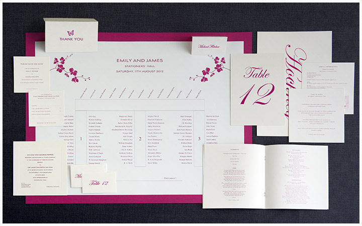 Traditional Wedding Stationery A Complete Set