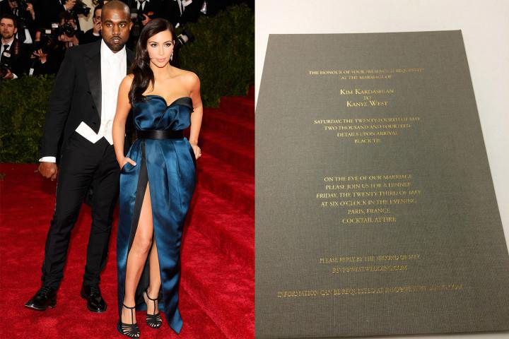 The Killer Kardashian Wedding Invitation