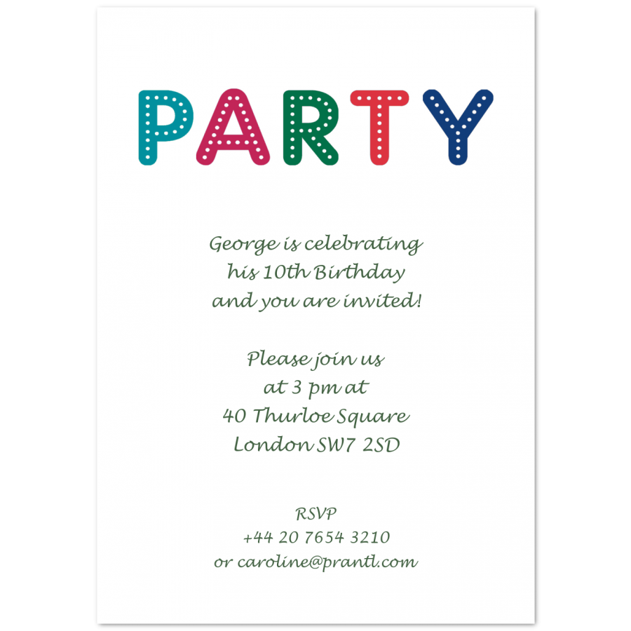 birthday invitations for children party prantl since 1797