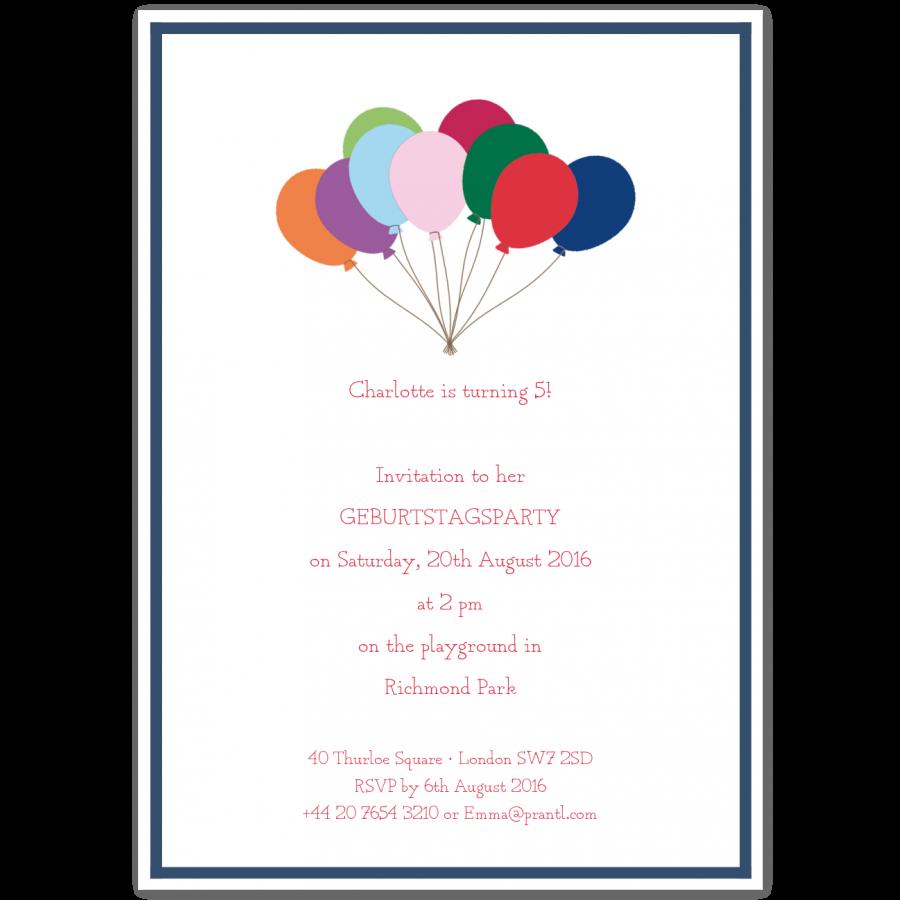 Birthday Invitations for Children \