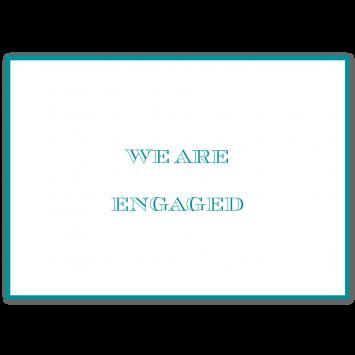 Bordered Folding Engagement Cards