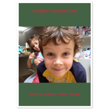 "Christmas photo cards ""Navidad"""
