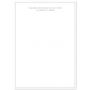 A4 Writing Paper with Keyline Border