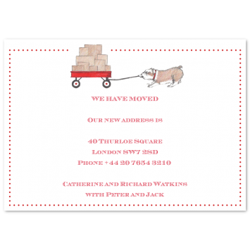 "Change of Address Cards ""Wagon"""