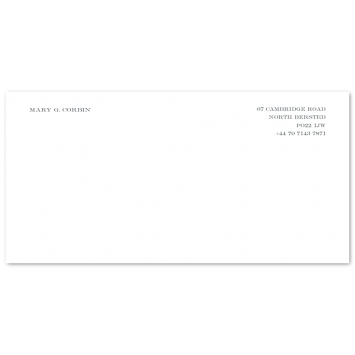 DL Correspondence Cards (right aligned)