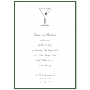 "Bespoke Invitations ""Dry Martini"""