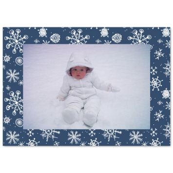 "Christmas photo cards ""Snowflakes"""