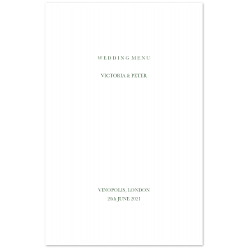 Folding Wedding Menu Cards