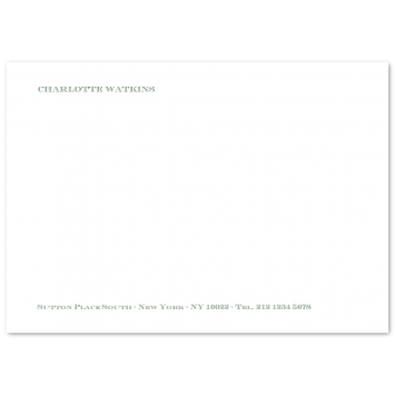 A6 Correspondence Cards with Footer (left aligned)