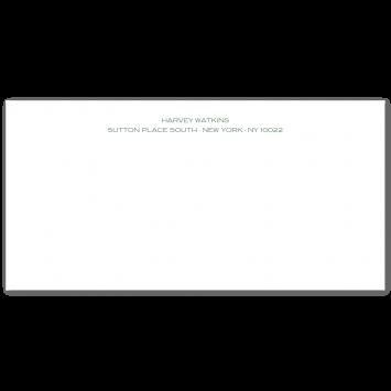 Engraved DL Correspondence Cards