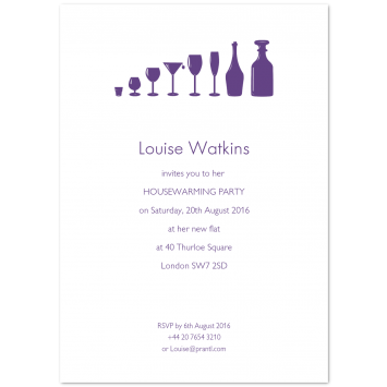 "Bespoke Invitations ""Bottles & Glasses"""
