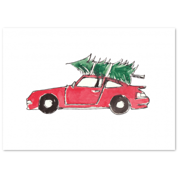 "Christmas photo cards ""Porsche"""