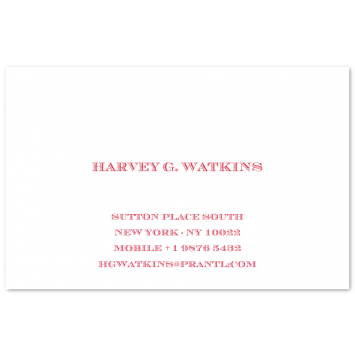 Engraved Visiting Cards (centred)