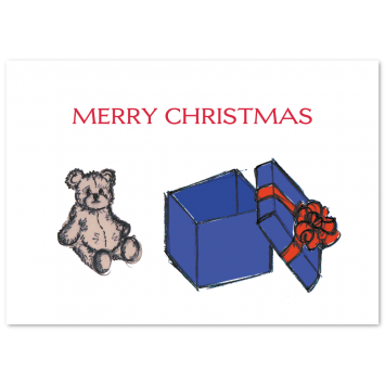 "Illustrated Christmas photo cards ""Teddy"""