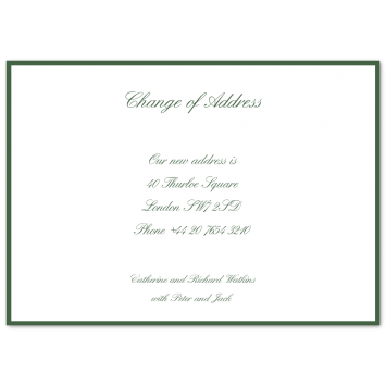 Bordered Change of Address Cards