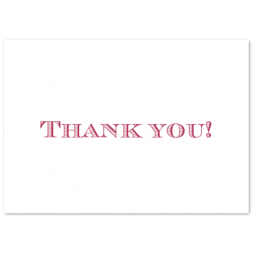 Traditional Thank You Cards
