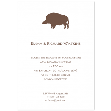 "Bespoke Invitations ""Wild Boar"""