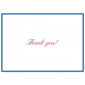 Bordered Thank You Cards
