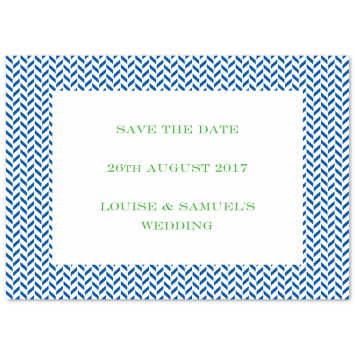 "Save The Date Cards ""Herringbone"""