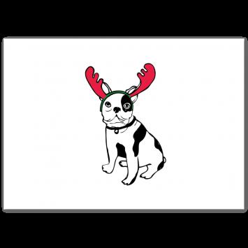 "Christmas photo cards ""Rein-Dog"""