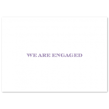 Folding Engagement Cards