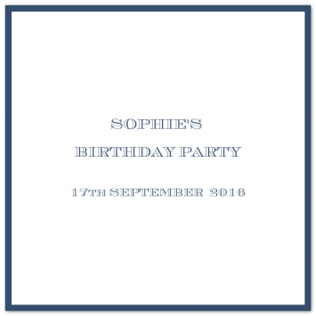 Folded Square Bordered Invitations