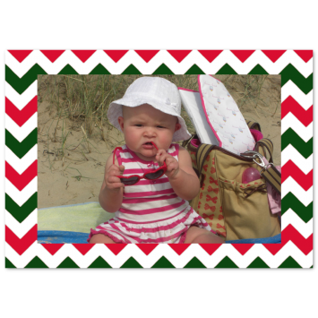 "Christmas photo cards ""Christmas Chevron"""