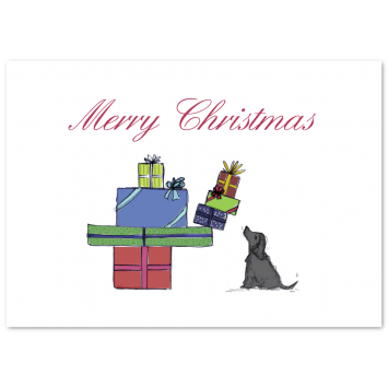 "Illustrated Christmas photo cards ""Presents"""