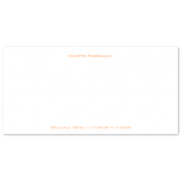 DL Correspondence Cards with Footer
