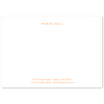A6 Correspondence Cards with Footer