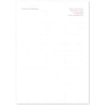 A4 Writing Paper (right aligned)