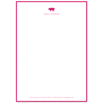 Illustrated A5 Writing Paper with Footer & Border