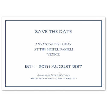 Save The Date Cards with Keyline Border