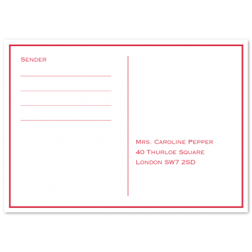 RSVP Cards with Keyline Border