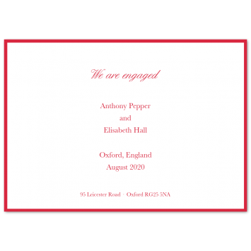 Bordered Engagement Cards