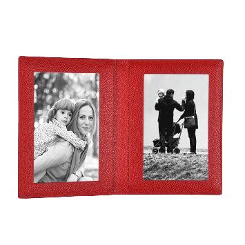 Leder Fotorahmen in rot