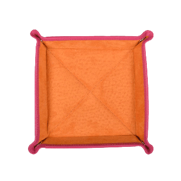 Quadratischer Taschenentleerer in pink  / orange