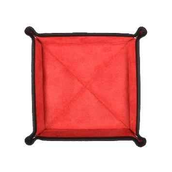 Quadratischer Taschenentleerer in schwarz / rot