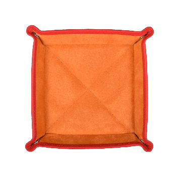 Quadratischer Taschenentleerer in orange / orange