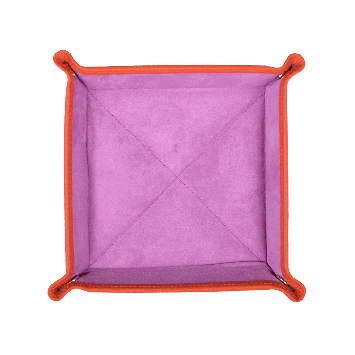 Quadratischer Taschenentleerer in orange / lila