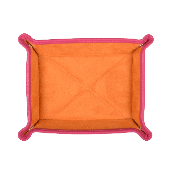 Kleiner Taschenentleerer in pink / orange