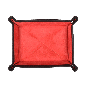 Kleiner Taschenentleerer in schwarz / rot