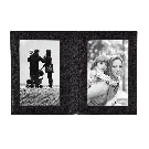 Black Leather Folded Photo Frame