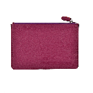 Large Purple Leather Pouch