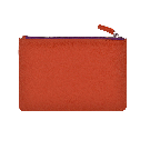 Large Orange Leather Pouch