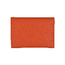 Large Orange Leather Envelope
