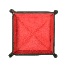 Square Travel Tray in Green / Red