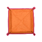 Square Travel Tray in Pink / Orange