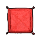 Square Travel Tray in Black / Red
